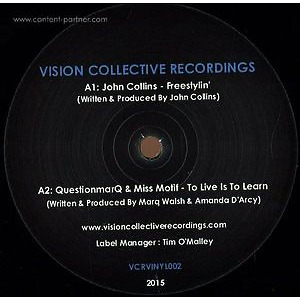 John Collins, Questionmarq & Miss Motif - The Perception Ep (& Mick Verma) (vision collective recordings)