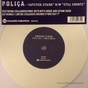 Polica - Lipstick Stains/Still Counts (Ltd White  (Memphis Industries)