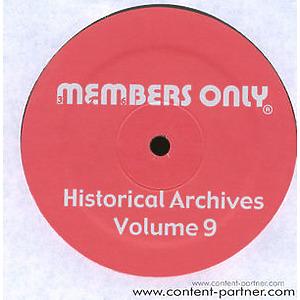 Various Artists - Historical Archives Volume 9 (Back in) (Members Only)