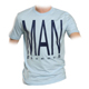 supa tshirt hellblau THE MAN flockdruck - M