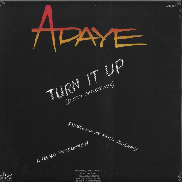 ADAYE - TURN IT UP (Back)