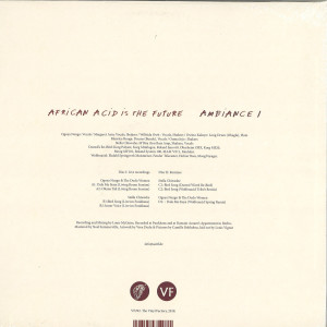 AFRICAN ACID IS THE FUTURE - AMBIANCE I (INC. DAUWD / WOLFONACID REMIXES) (Back)