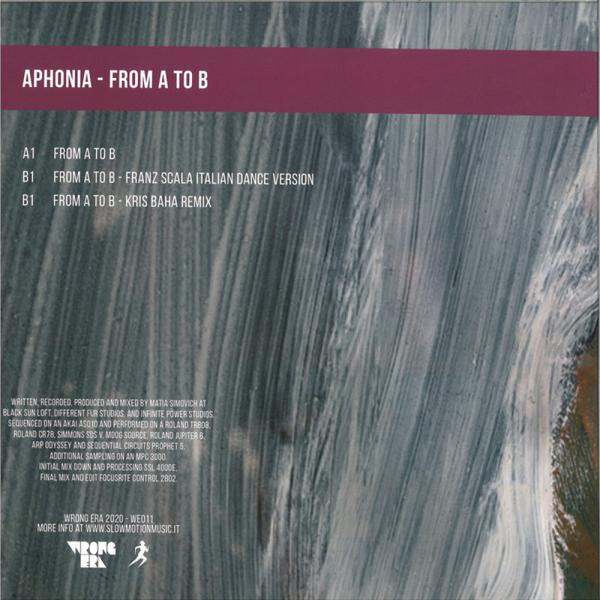 APHONIA - FROM A TO B (FRANZ SCALA & KRIS BAHA REMIXES) (Back)