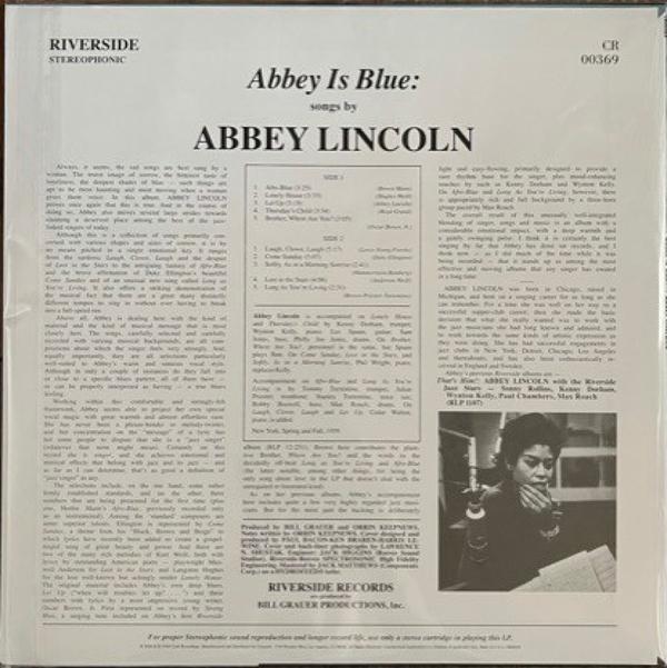 Abbey Lincoln - Abbey Is Blue (180g Vinyl LP) (Back)