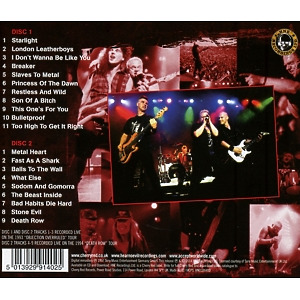 Accept - All Areas-Worldwide (Live 2CD) (Back)