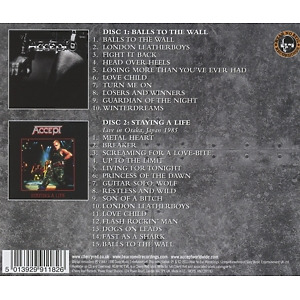 Accept - Balls To The Wall (2CD Expanded Edition) (Back)