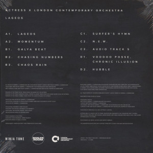 Actress X London Contemporary Orchestra - Lageos (180g 2LP+MP3) (Back)