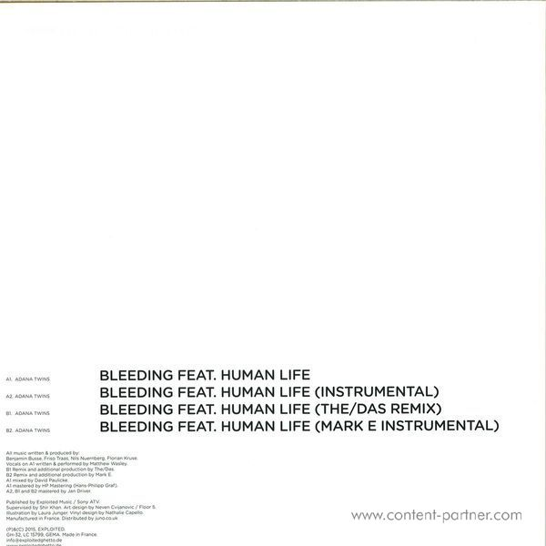 Adana Twins - Bleeding EP (Back)