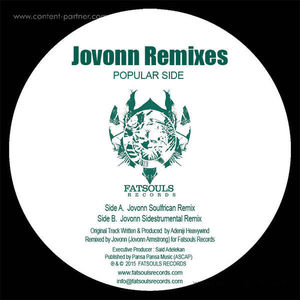 Adeniji Heavywind - Popular Side (Jovonn Remixes)