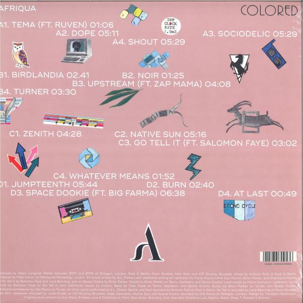 Afriqua - Colored (Pink Vinyl 2LP) (Back)