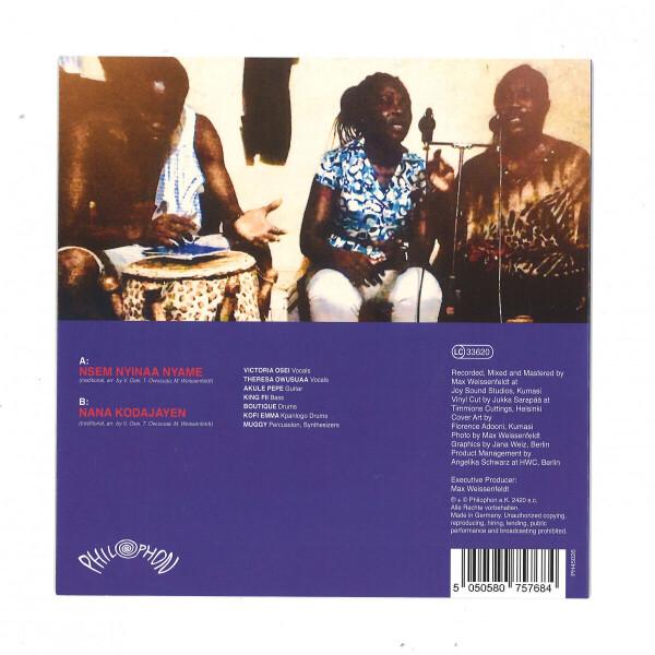 """Ahemaa Nwomkro - Nsem Nyinaa Nyame (7"""" Vinyl) (Back)"""