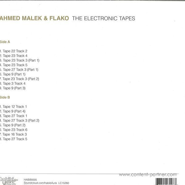 Ahmed Malek & Flako - The Electronic Tapes (LP+MP3) (Back)