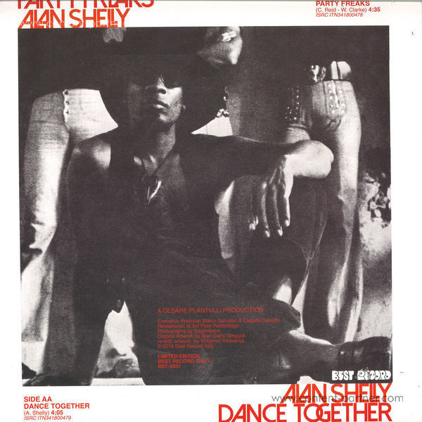 Alan Shelly - Party Freaks / Dance Together (Back)