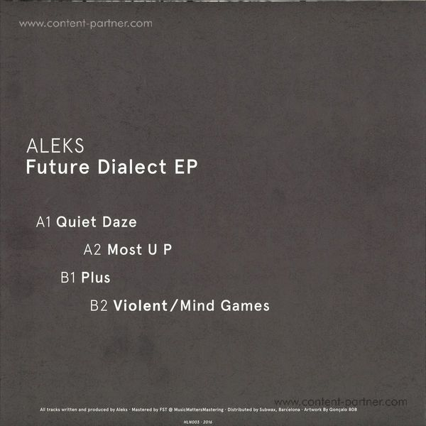 Aleks - Future Dialect EP (Back)