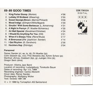 Allotria Jazz Band - Good Times,69-89 (Back)