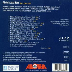 Allotria Jazz Band - In Concert (Back)