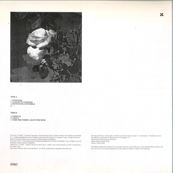 Ana Roxanne - Because Of A Flower (Back)