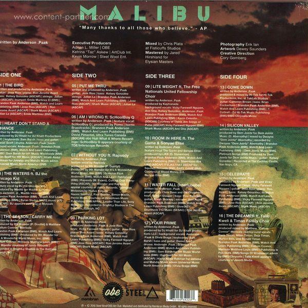 Anderson .Paak - Malibu (2LP) (Back)