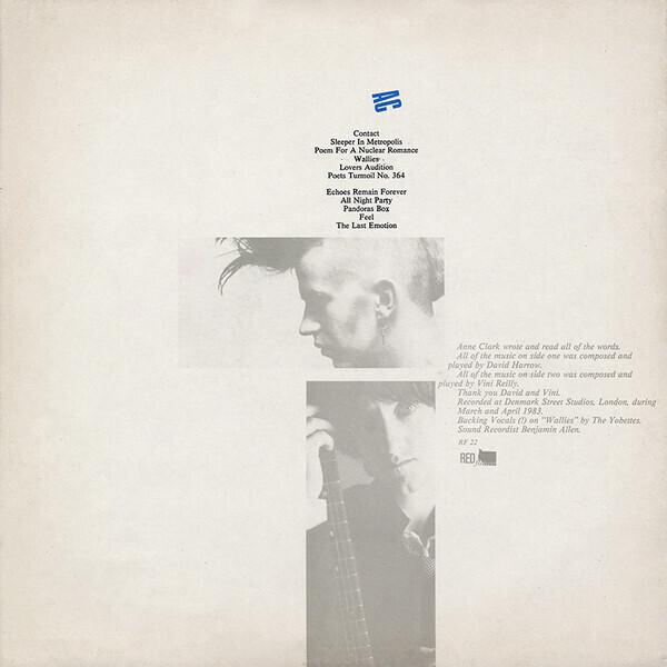 Anne Clark - Changing Places (Ltd. Reissue) (Back)