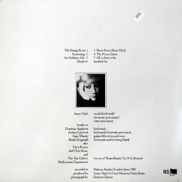 Anne Clark - The Sitting Room (LP) (Back)
