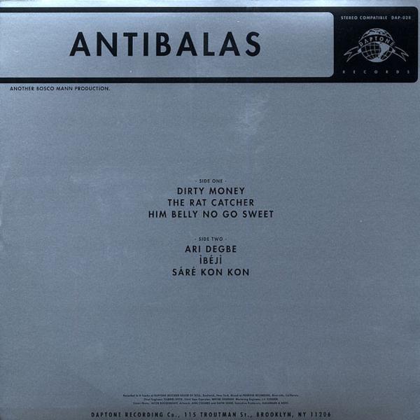 Antibalas - Antibalas (LP+MP3) (Back)