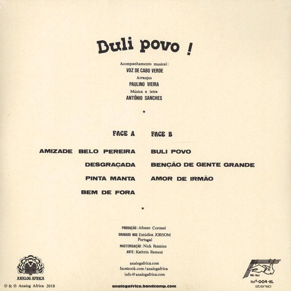 Antonio Sanchez - Buli Povo (Back)