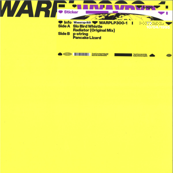 Aphex Twin - Peel Session 2 (12''+MP3) (Back)