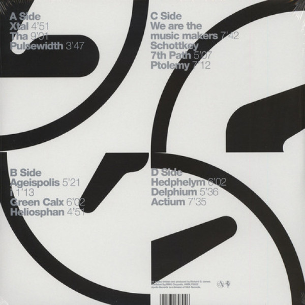 Aphex Twin - Selected Ambient works 85-92 (Remastered 2LP) (Back)