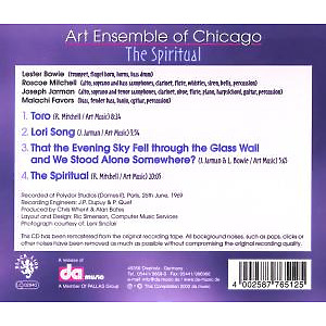 Art Ensemble Of Chicago - The Spiritual (Back)