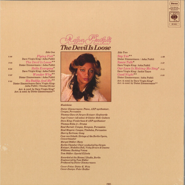 Asha Puthli - Devil is Loose (Pink Vinyl LP Reissue) (Back)