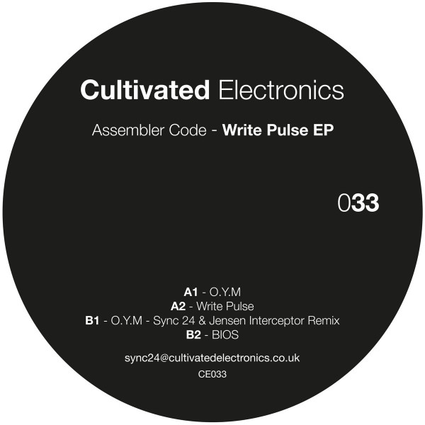 Assembler Code - Write Pulse EP (Back)