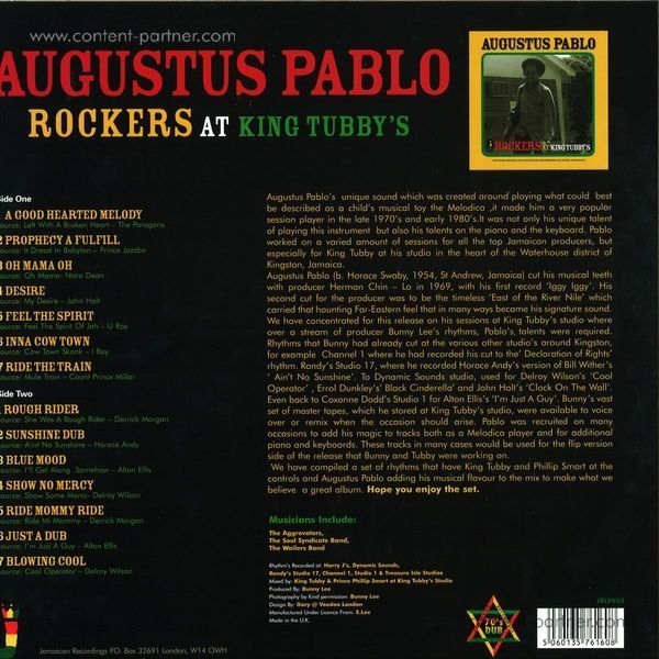 Augustus Pablo - Rockers At King's Tubbys (LP) (Back)