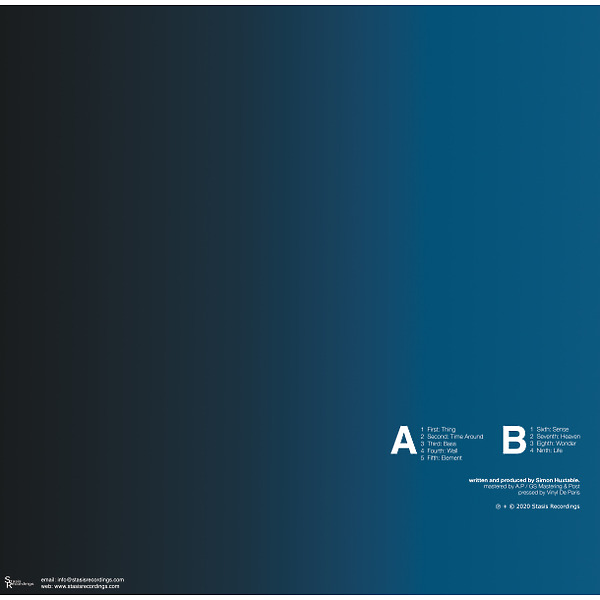 Aural Imbalance - Transparent Blue LP (Back)