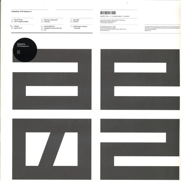 Autechre - NTS Sessions 2 (Ltd. 3LP+MP3)