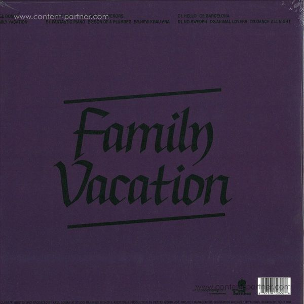 Axel Boman - Family Vacation (do lp) (Back)