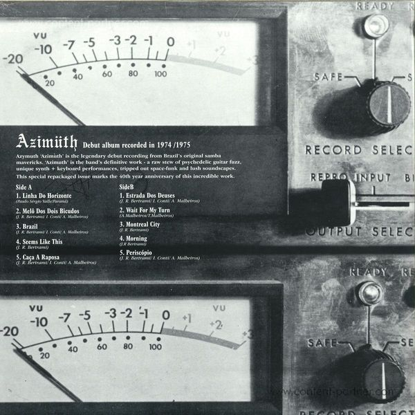 Azymuth - Azimüth (Ltd. Repress) 1 per Customer (Back)