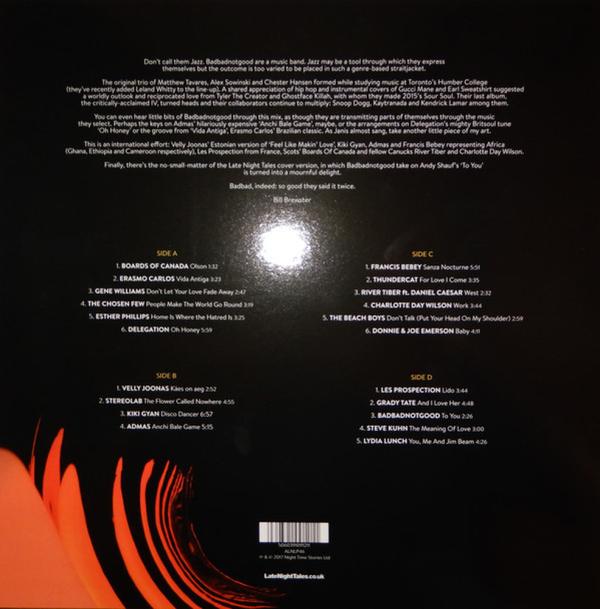 BADBADNOTGOOD - Late Night Tales (2LP+MP3/180g/Gatefold) (Back)