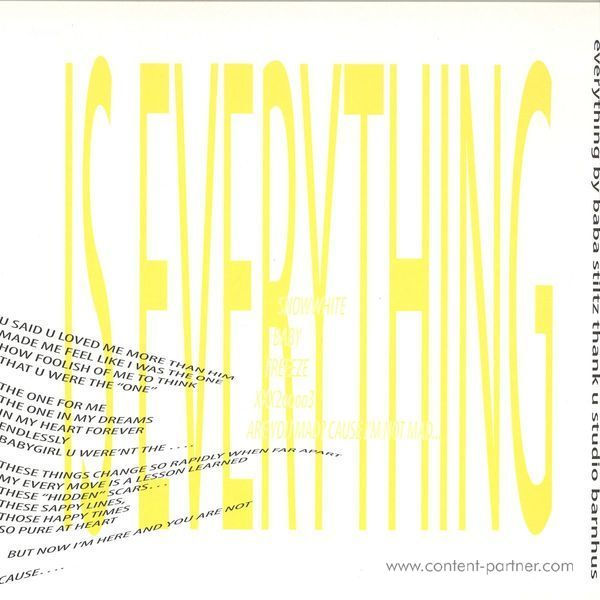 Baba Stiltz - Is Everything (Back)