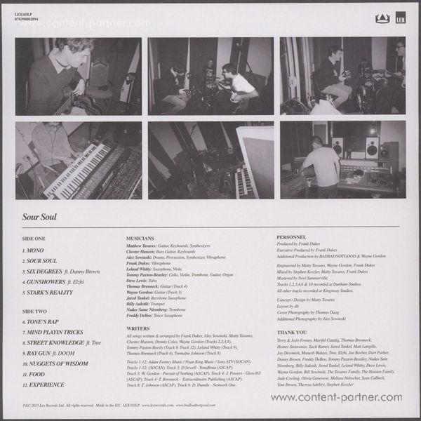 BadBadNotGood ft Ghostface Killah - Sour Soul LP (Back)