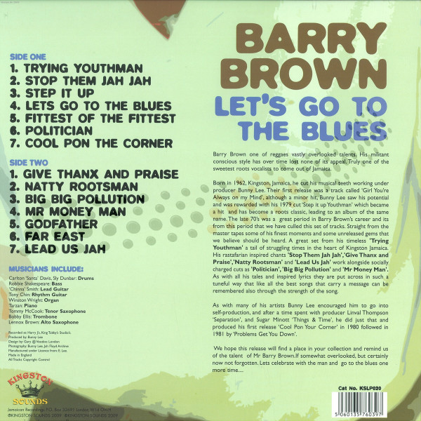 Barry Brown - Let's Go To The Blues (Back)