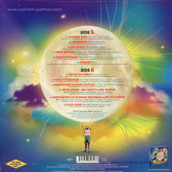 Bart & Baker / Various Artists - Electro Swing - Best Of (LP, 180g) (Back)