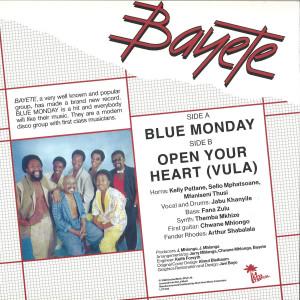 Bayete - Blue Monday (Back)