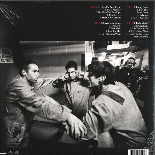 Beastie Boys - Hello Nasty (180g 2LP Repress) (Back)