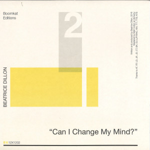 Beatrice Dillon - Can I Change My Mind? (Back)