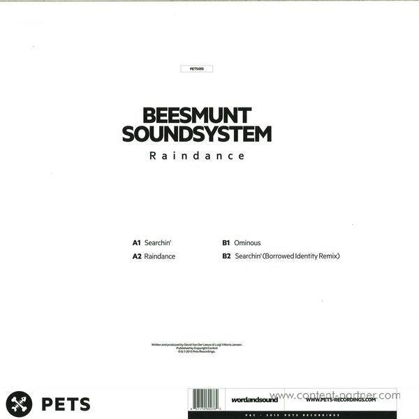 Beesmunt Soundsystem - Raindance (Borrowed Identity Rmx) (Back)
