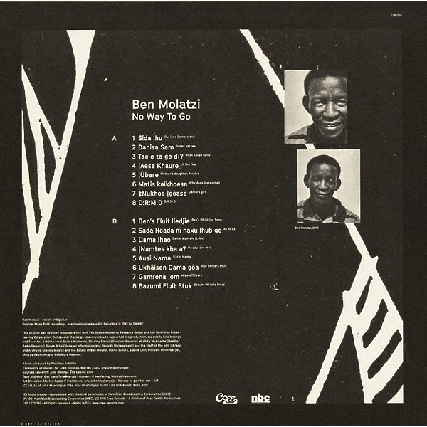Ben Molatzi - No Way To Go (Ltd. 180g LP+16S Booklet) (Back)