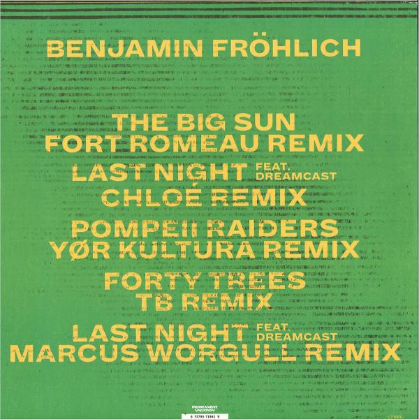 Benjamin Fröhlich - Amiata Remixes 2 (Back)