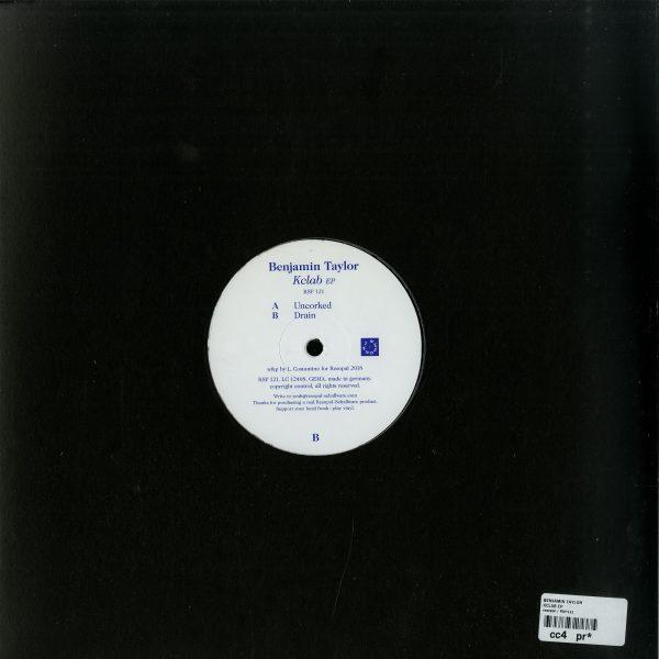 Benjamin Taylor - KCLAB EP (Back)