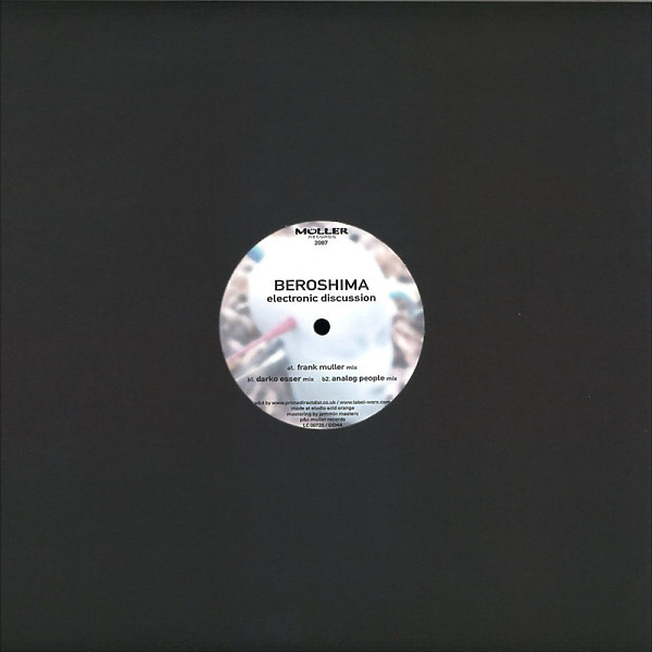 Beroshima - Electronic Discussion - 20 Years And Remixes (Back)
