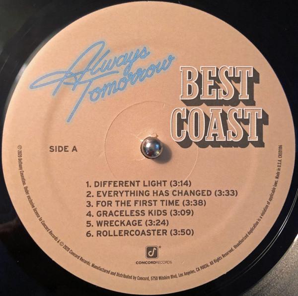Best Coast - Always Tomorrow (LP) (Back)
